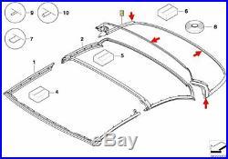 BMW 3er E93 Original Hardtop Dichtung Dachschale hinten 54377217244 NEU