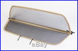 BMW 6 Series E64 Convertible 2004-2010 Wind Deflector BEIGE NEW Easy Fit