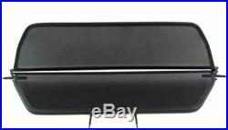 Black foldable wind deflector for BMW 3 SERIES E46 Cabrio 00-07