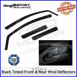 CLIMAIR BLACK TINTED Wind Deflectors BMW 5-Series Estate F11 2010-2017 SET -4