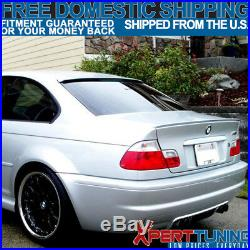 Fits 99-05 BMW E46 3-Series M3 AC Style Unpainted Roof Spoiler ABS