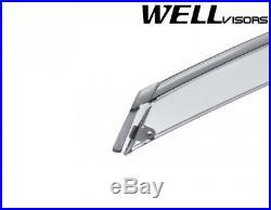 For 06 11 Bmw E90 3 Series Wellvisors Side Window Visors Deflectors Black Trim Bmw