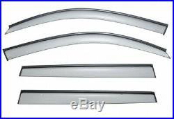 Open Box WellVisors For 11-16 BMW X3 BLACK Trim Side Window Visors