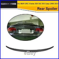 P Style Carbon Fiber Rear Lip Spoiler Wing Fit for BMW E92 M3 Coupe 2007-2013