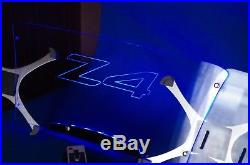 Tuning glass acrylic wind deflector defender BMW roadster Z4 e89 illuminated