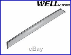 WellVisors For 07-15 BMW E70 X5 BLACK Trim Side Window Visors Rain Deflectors