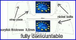 Z4 02-08 E85 Windscreen Wind Deflector defender tinted- engraved bmw